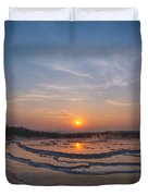 Great Fountain Geyser Sunset  Duvet Cover