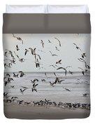 Great Gull Group On The Beach Duvet Cover