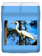 Great Heron Art Duvet Cover