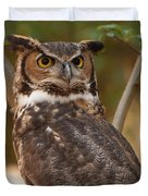 Great Horned Owl In A Tree 3 Duvet Cover