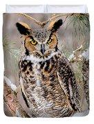 Great Horned Owl Nature Wear Duvet Cover