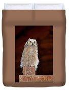 Great Horned Owlet Duvet Cover