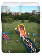 Great Inflatable Race Duvet Cover