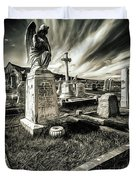 Great Orme Graveyard Duvet Cover