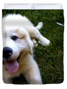 Great Pyrenees Puppy Duvet Cover