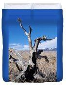 Great Sand Dunes National Park Fallen Tree Portrait Duvet Cover