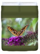 Great Spangled Fritillary Butterfly Duvet Cover