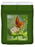 Great Spangled Fritillary On Bee Balm Duvet Cover