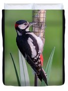 Great Spotted Woodpecker 1  Duvet Cover