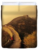 Great Wall In The Mist Duvet Cover