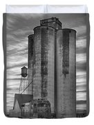 Great Western Sugar Mill Longmont Colorado Bw Duvet Cover
