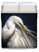 Great White Egret Print One Duvet Cover