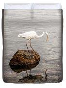 Great White Heron Duvet Cover