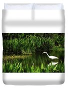 Great White Heron Green Cay Wetlands Duvet Cover