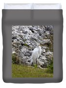 Great White Heron Race Duvet Cover