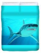 Great White Shark With Sunrays Duvet Cover