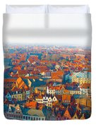 Greatest Small Cities In The World Duvet Cover