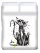 Greedy The Cat Duvet Cover