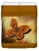 Greek Butterfly Duvet Cover