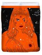 Greek Goddess In The Sky Duvet Cover