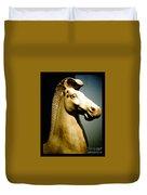 Greek Horse Statue Duvet Cover