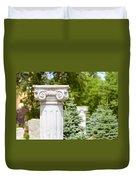 Greek Ionic Columns Duvet Cover