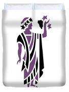 Greek Man In Purple Duvet Cover