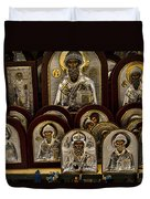 Greek Orthodox Church Icons Duvet Cover by David Smith