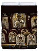 Greek Orthodox Church Icons Duvet Cover