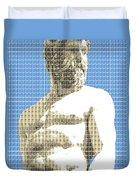 Greek Statue #2 - Blue Duvet Cover