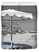 Greek Umbrella Duvet Cover