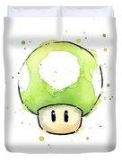 Green 1up Mushroom Duvet Cover