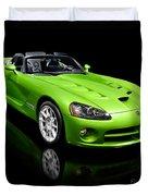 Green 2008 Dodge Viper Srt10 Roadster Duvet Cover