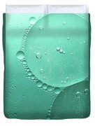 Green Abstract Of Oil Droplet.  Duvet Cover