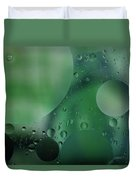 Green Abstract Duvet Cover