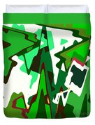Green Abstract Squared #2 Duvet Cover