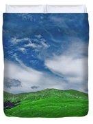 Green And Blue Landscape Duvet Cover