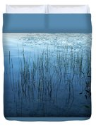 Green And Blue Serenity - Smooth Wetland Morning Duvet Cover