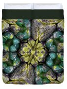 Green And Blue Stones 2 Duvet Cover