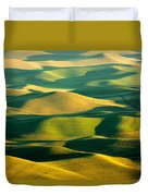 Green And Gold Acres Duvet Cover