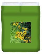 Green And Yellow Burst Duvet Cover