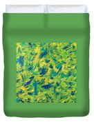 Green And Yellow Duvet Cover