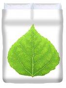Green Aspen Leaf #11 Duvet Cover