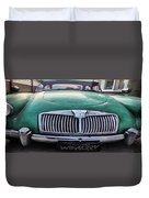 Green Austin Healey In Drive Duvet Cover