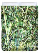 Green Bamboo Tree Duvet Cover