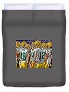 Green Bay Packers Team Art 2 Duvet Cover