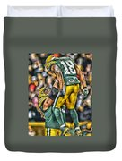 Green Bay Packers Team Art Duvet Cover