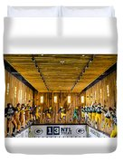 Green Bay Packers Uniforms Then And Now Duvet Cover