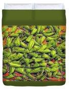 Green Bean Tips Duvet Cover