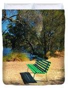 Green Bench Duvet Cover